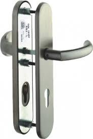 bequille de porte exterieur poignée de porte d entrée de sécurité design en inox sur plaque