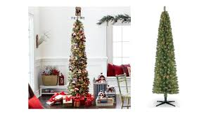 Score This 7 Foot Pre Lit Pencil Artificial Christmas Tree With Clear Lights For Only 3900 Even Better Shipping Is Free A Doorbuster Deal