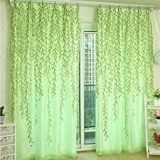 yunso willow muster voile vorhang tüll vorhänge schlafzimmer transparent vorhang für wohnzimmer kinderzimmer grün