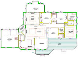 Ranch House Floor Plans Colors Small Modern One Story House Plans Elegant One Story Home 6994 4