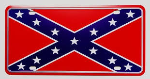 confederate csa front licence plate for american car flag