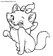 Printable Cat Coloring Pages Page Kitten Kitty Kittens Cute