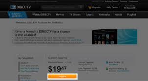 DirecTV My Account Pay Bill Using Credit or Debit Card