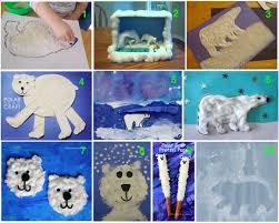 Polar Bear Art And Craft Ideas Kids Teaching Endangered Species