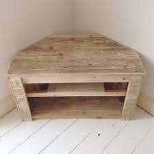 Handmade Rustic Corner Table Tv Stand With By RemyDicksonDesigns Diy Pallet