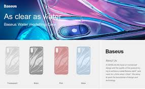 Baseus Stylise Soft Silicone Transparent Flowing Water Pattern Case