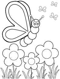 Free Coloring Pages Butterfly Life Cycle Book Spring Flowers Monarch Full Size