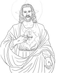 Click To See Printable Version Of Sacred Heart Coloring Page