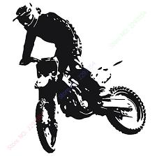 motocross moto bike motorbike wall sticker decal home