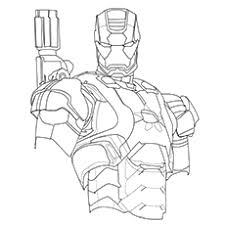 Iron Man Patriot Coloring Pages