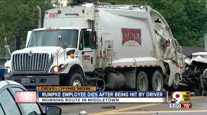 Rumpke Employee Dies After Being Hit By Driver On Middletown Route ... Twoyearold Brody Cannot Contain His Excitement When Garbage Man Garbage Truck Driver Critical After Crash On I94 In Romulus City Truck Driver Keep Your Clean L For Kids Youtube Pinned Crest Hill Abc7chicagocom Drunk Plows Through 9 Cars Trees And A Front Waving Cartoon Stickers By Patrimonio Redbubble Grandma Killed While Pushing Pram At Dee Why North Carolina Toddler Surprise Each Other Video Shows Miami Fall Over I95 Overpass Dead After Being Struck His Own San Loses Control Crashes Into Shopping