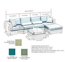 Sirio Patio Furniture Covers Canada by Sirio Niko Peacock 6 Piece Sectional