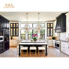 Painting Wood Kitchen Cabinets Ideas Black And White Shaker Solid Wood Paint Kitchen Cabinet Ideas With Glass Door Buy Kitchen Cabinet Laquer Kitchen Cabinet L Kitchen Cabinet