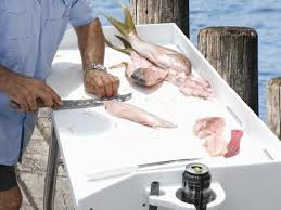 Stainless Steel Fish Cleaning Station With Sink by Dock Accessories Ladders Tiki Huts Fish Cleaning And Cargo Lifts