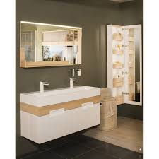 meuble de salle de bains plus de 120 marron leroy merlin