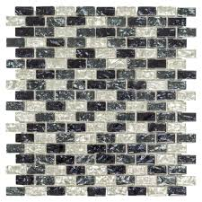 Jeffrey Court Mosaic Tile by Jeffrey Court Sable Evening 12 In X 12 In X 8 Mm Glass And Stone