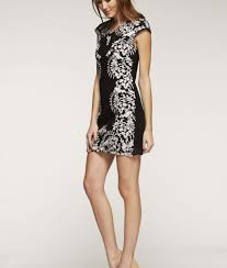 chanel inspired lace shift dress in black u0026 white alila