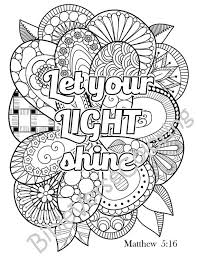 5 Bible Verse Coloring Pages Pack 2 Simple By BibleVerseColoring