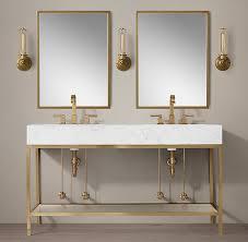 Restoration Hardware Mirrored Bath Accessories by Hudson Bath Collection Aged Brass Rh