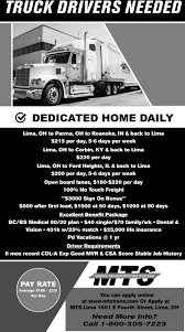 100 Home Daily Truck Driving Jobs Drivers Needed Martin Transportation Systems