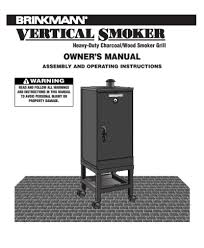 Brinkmann Outdoor Electric Grill by Search Outdoor Smoker User Manuals Manualsonline Com
