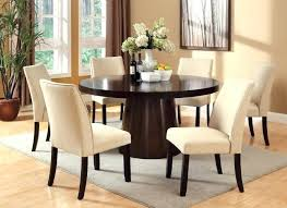 Espresso Dining Set Finish Round Chairs Available In Two Colors Fabrics Table