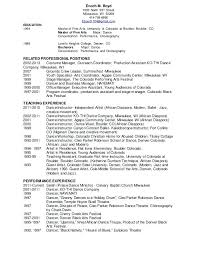 Dance Resume Template Free M North Street 1 Examples