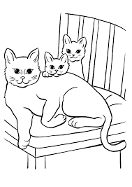 Colouring Pages Cats Kittens Free Printable Kitten Coloring For Kids Best