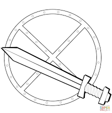 Click The Sword And Shield Coloring Pages
