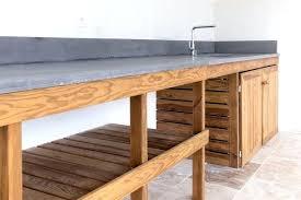meuble cuisine exterieure bois cuisine ete bois cuisine dactac meuble bois massif et plan de