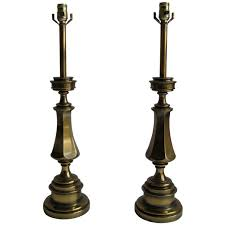Stiffel Floor Lamp With Glass Table by Pair Of Solid Brass Stiffel Lamps For Sale At 1stdibs