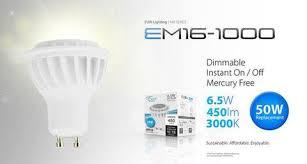 led mr16 gu10 bulb 6 5w 50 watt equal 3000k 450 lumens