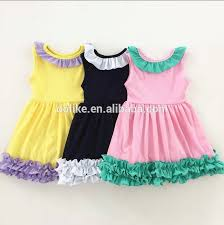 2017 Latest Easter Bunny Children Dress Designs Ruffle Sleeve Baby Girls