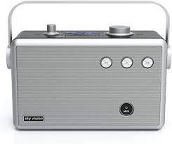 sky vision stereo dab radio tragbar mit bluetooth dab radio 55 digital radio dab zb als dab badradio dab plus radio mit wecker netzbetrieb