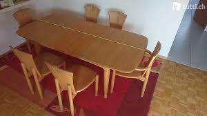 geölter esstisch erle massiv mit sechs stühlen in zürich