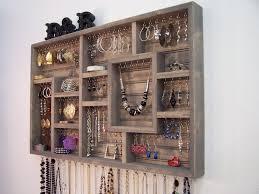 Handmade Wall Jewelry Organizer Display Case Earring Holder