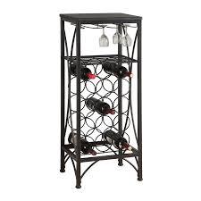 Shop Monarch Specialties 15 Bottle Black Freestanding Floor Wine