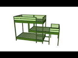 triple bunk bed plans youtube