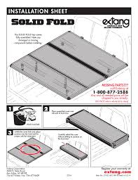 100 Truck Bed Parts Extang Solid Fold General Installation User Manual 3 Pages