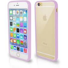 iPhone 6 Plus 6S Plus Bumper Clear Back Silicone Case Purple
