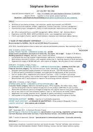Procurement Resume Examples Global Executive Product Development Marketing Sample Free