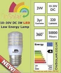 12v 24v dc 3w led light bulb 220 lumen e27 b22 es ses e14 marine