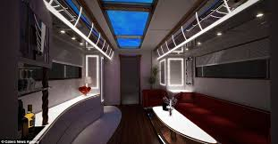 Interior Of EleMMent Palazzo Motorhome What Has Been Dubbed The Most Expensive
