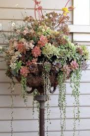 Rustic Flower Pot Holder Achieve This Look By Using An Old Floor Lamp