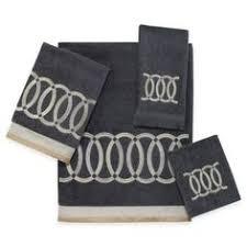 Bed Bathandbeyondcom by Avanti Geneva Black And Silver Bath Towels Bedbathandbeyond Com