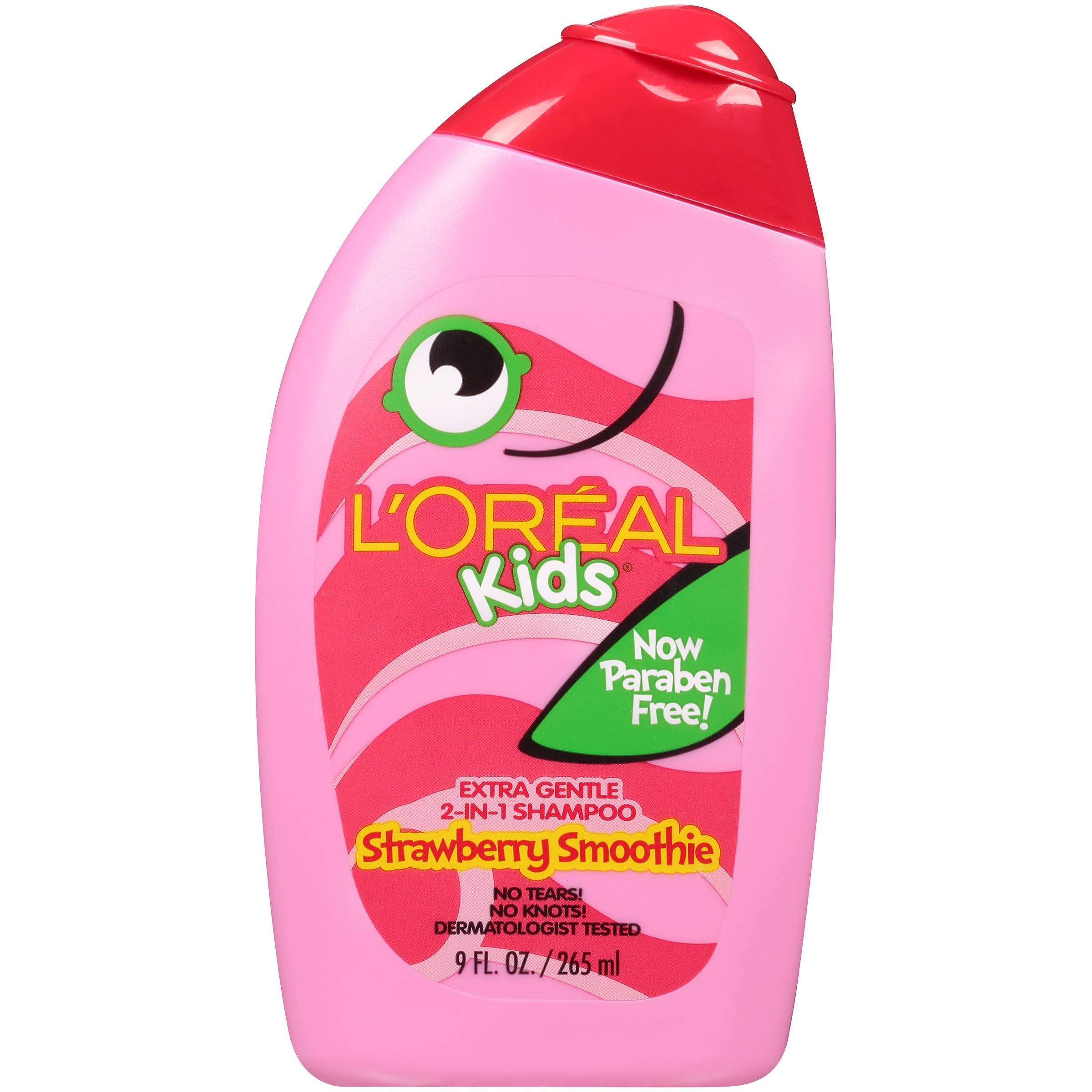 L'Oréal Kids 2-In-1 Shampoo - Strawberry Smoothie, 265ml