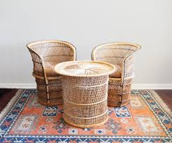 Vintage Wicker Patio Furniture Outdoor Rattan Lawn