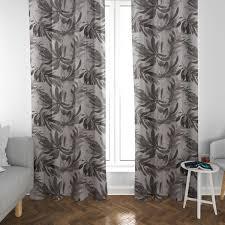 schöner leben vorhang blätter beige grau taupe 245cm oder wunschlänge