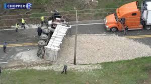 100 Dump Truck Crash Truck Overturns In Multivehicle Crash In Woolwich Twp 6abccom