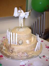 Beach Themed Wedding Cake With Romance Topper Toppers Theme Various Decor Kitchen Hunting Scottish Surfing The Groom Australia For Weddings Cheap Rustic